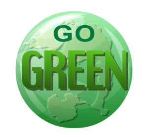 Go Green logo.