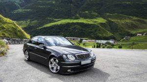 Black Mercedes-Benz sports car.