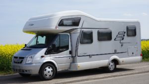 Hymer mobile home.