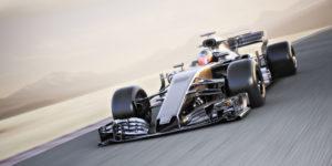 Race car on track.