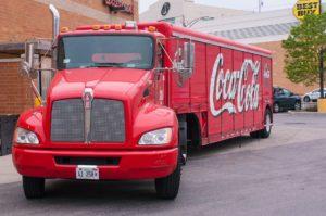 Red Coca Cola truck.