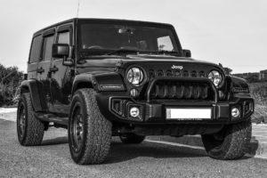 Black jeep.