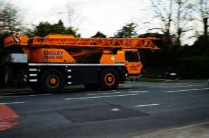 Mobile crane truck.