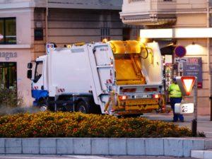 Garbage disposal truck.