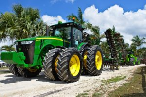 Green diesel tractor.