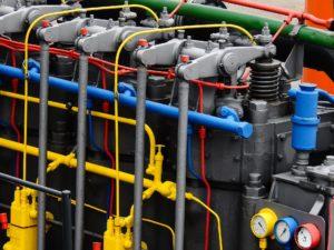 Marine diesel engine.
