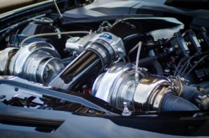 Turbo car engine.