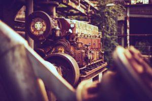 Vintage diesel engine.