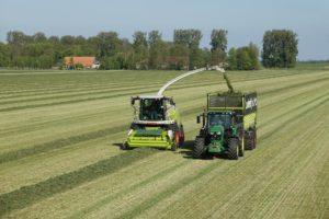 Diesel mowing tractor.
