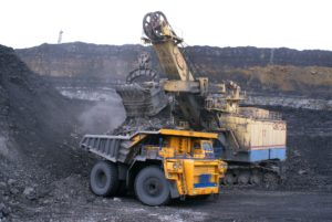 Heavy mining equipment.