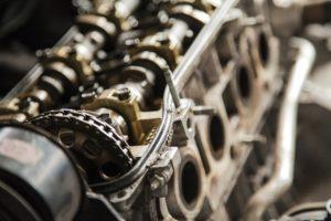 Mechanical motor parts.