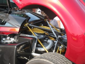 Mercedes turbo engine.