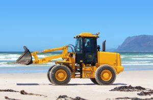 Ocean diesel excavator.