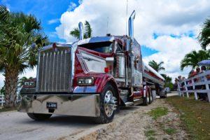 Large semi truck.