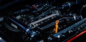 Power automobile engine.