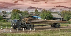 Logging truck.