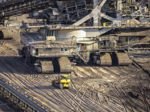 Brown coal mining operation.