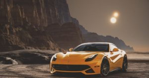 Luxury sports car.