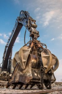 Excavator crane.