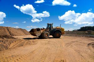 Sand pit excavator.