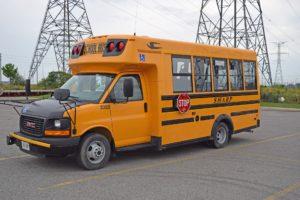 Orange school bus.