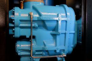 Blue screw compressor.