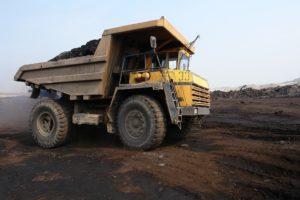 Coal mining dump truck.