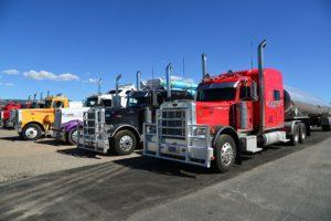 Semi truck fleet.