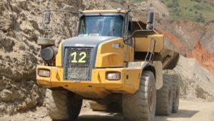 Mining dump truck.