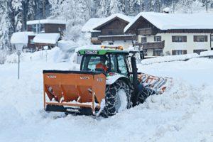 Tractor snow plow.
