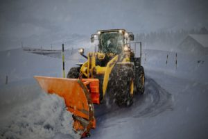 Tractor snow plow.