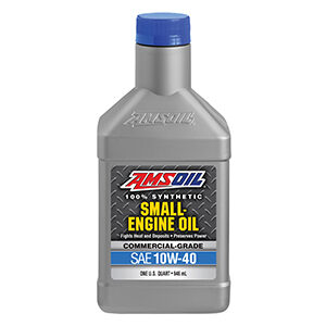 AMSOIL 10W-40 Synthetic Small Engine Oil.