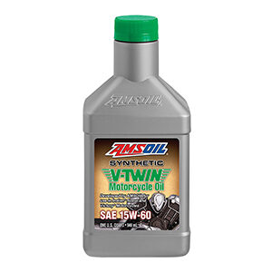 15W-60 Synthetic V-Twin Motorcycle Oil.