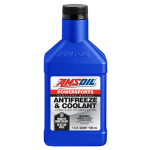 AMSOIL Powersports Coolant., the best motorcycle coolant for hot weather.